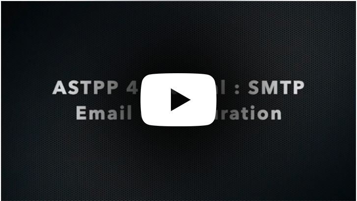 SMTP Email configuration